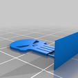 Classic-Punisher-Logo-Stand.png Download free STL file The Punisher - Logo • 3D printing object, AwesomeA