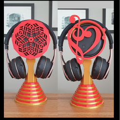 Untitled.png Download free STL file Echo Dot Headphone Stand (2 designs) • 3D printing template, 3DPrintBunny