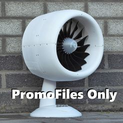 P1030797_CC_PromoFiles_Only_2.JPG Download free STL file Jet Turbine Table Fan, promo • Template to 3D print, generalrulofdumb