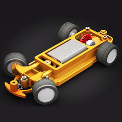 chassis-slot.png Download STL file Slot Racing chassis with steering • 3D printer model, support-Aromur