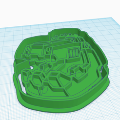 Terrific Habbi-Gogo (1).png Download STL file DINOTRUX COOKIE CUTTER • Template to 3D print, KDASH