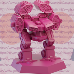 1.png Download STL file Many missiles Assault Mech • 3D printer object, TheLelanianIndustrialComplex