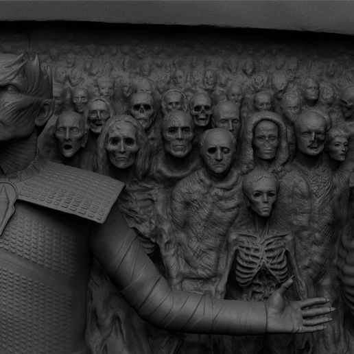 ZBrush D77788ocument.jpg Download STL file Game of Thrones - Night King - Hardhome Relief • 3D printing model, brkhy