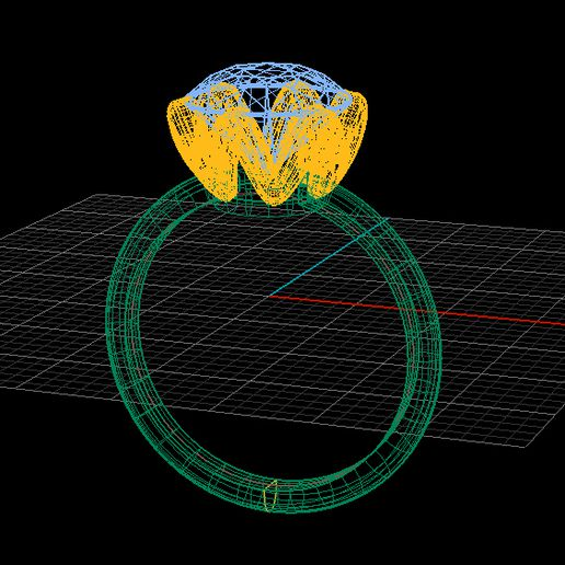 1.jpg Download 3DS file Solitaire ring • Model to 3D print, Neel6462