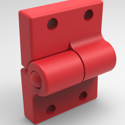 1red.PNG Download STL file Hinge • 3D printer template, Bitencourt