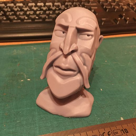 IMG_5687.jpeg Download free STL file Male bust with goatee • 3D printable object, KernelDesign