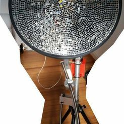 Dish_heater.jpg Download free STL file Parabolic Heating System for Camping mobile use • 3D printable template, cod