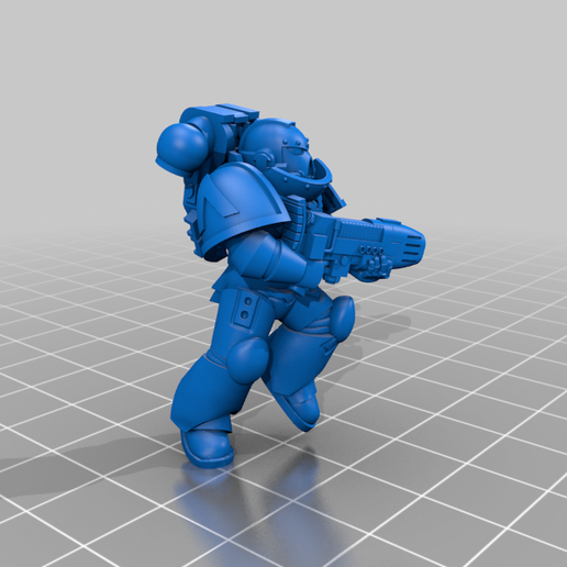 3_Plasma.png Download free STL file Angelic Space Soldiers with Heavy Weapons • Template to 3D print, PhysUdo