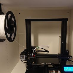 holder_with_spool_and_printer.jpg Download free SCAD file PLATSA filament spool holder mount for Ender 3 • Model to 3D print, fredrikbaberg