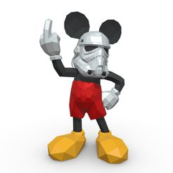 1.jpg Download 3DS file Mickey Mouse stormtrooper  • 3D printer template, stiv_3d