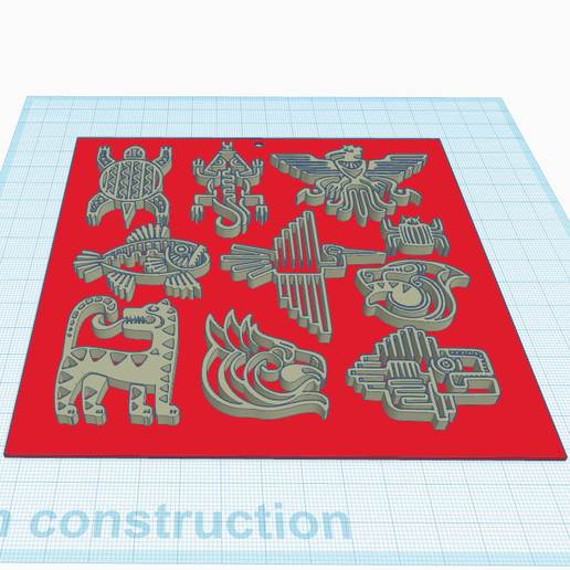 1.png Download free STL file Aztec stylized drawings • 3D printable object, oasisk