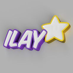 LED_-_ILAY_(STAR)_2021-Jun-08_11-27-41PM-000_CustomizedView5705459696.jpg Download STL file NAMELED ILAY (WITH STAR) - LED LAMP WITH NAME  • 3D printable template, HStudio3D