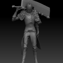 Front.PNG Download STL file Dark Souls Character - Yhorms Great Machete • 3D printing model, UpsideDownGorilla
