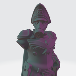 DKoK_Commissar_Scaled.png Download free STL file Lord Krieg with Cape and Big Hat • 3D printing design, BronzeAnvil