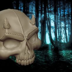 104215a2623d37bcea6fa5f8e84eaf79_display_large.jpg Download free STL file SKULL - DEMON • 3D print object, Bugman_140