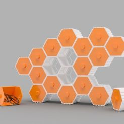 50e83b406a014210caaae013c658502e_preview_featured.jpg Download free STL file The HIVE - Stackable Hex Drawers • 3D printer model, O3D