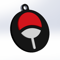 pic2.png Download STL file NARUTO UCHIHA KEYCHAIN • 3D printable design, Z_Designs