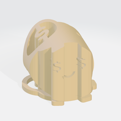 Word-Shape-Save-And-Greed-(Isometric-View).png Download STL file 3D Word Shape of Piggy Bank (Greedy Egg) • Design to 3D print, 3D-Soft
