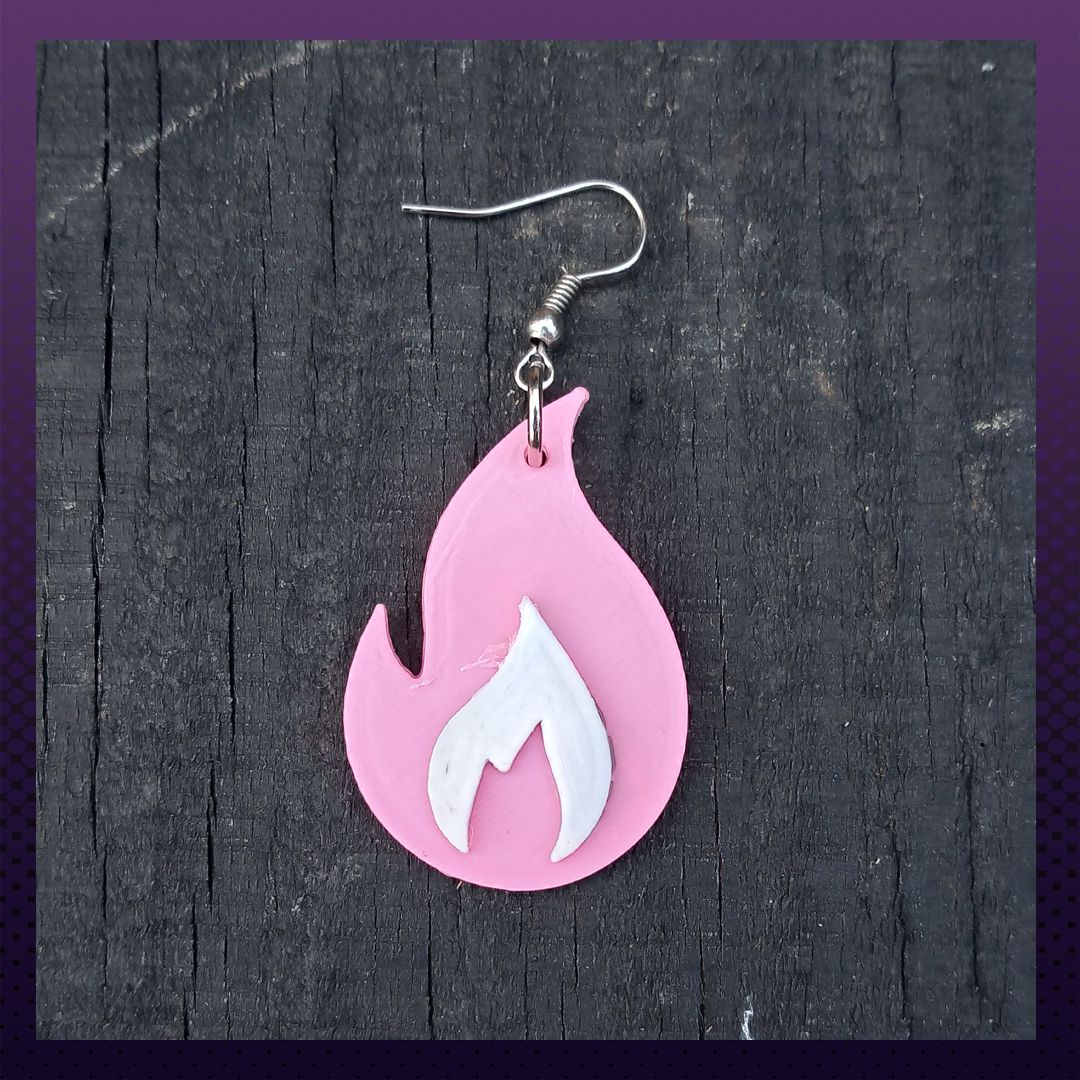 FotoA5.jpg Download STL file Fire earring collection!! • Object to 3D print, Polygon3D