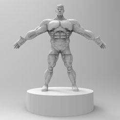 untitled.33.jpg Download STL file muscle male character • 3D printing object, ga461888