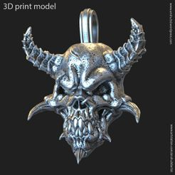 DS_vol1_P_k2.jpg Download STL file Demon skull vol1 pendant • 3D printing model, AS_3d_art