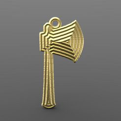Axe pendant .1.jpg Download STL file Axe • Template to 3D print, carle-leo