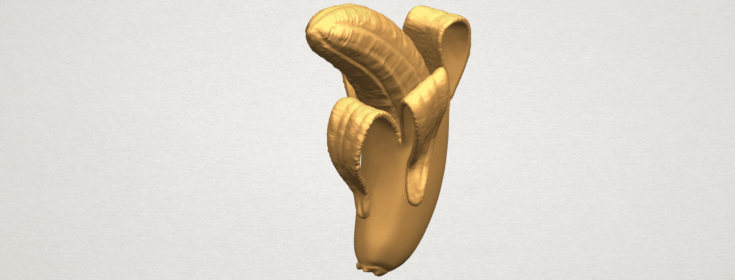 TDA0577 Banana 02 A08.png Download free STL file Plátano 02 • 3D printer object, GeorgesNikkei