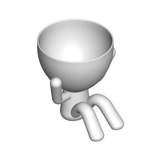 2_blanco_2.png Download free STL file The 3 pots glasses Robert Sabios Does not read, Does not listen, Does not see - The 3 pots glasses Robert Sabios Does not read, Does not listen, Does not see • 3D printable design, CREATIONSISHI