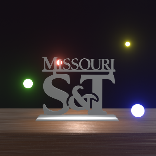 ST front.png Download STL file S&T logo Missouri University of Science and Technology • 3D printer model, Projedel