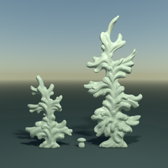 two_firtree-signature.png Download OBJ file Two fir trees • Template to 3D print, Skazok