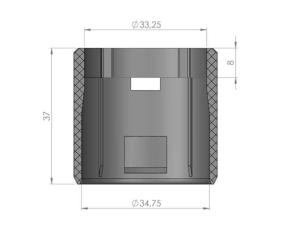 Raccord_11-2017.JPG Download free STL file Dyson ® DC05 Absolute Tube Connector • 3D printable design, Jetstorm-3D