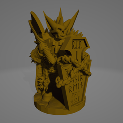 Undead Knight sm Axe.png Download STL file Undead Heavy Raider • 3D print design, Ellie_Valkyrie