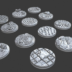 "Screenshot_2019-06-06_14.10.21.png Download free STL file 1"" Bases - Depths of Savage Atoll • 3D print template, ec3d"