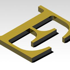 E1.jpg Download 3MF file Letter E of the alphabet (WITHOUT SUPPORTS) • 3D printable template, Molina