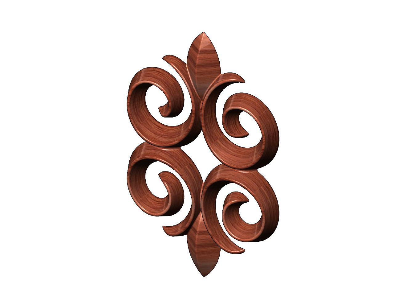 onlay18-09.JPG Download 3MF file Floral motif decoration scroll relief 3D print model • 3D printable object, RachidSW