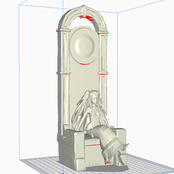 sothisonthrone.png Download free STL file Sothis on her Throne • 3D printable model, thelyingminister