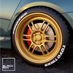 a1.jpg Download STL file RPF1  Style Set: Wheel, Tires and BRAKES! Display Case Included • 3D printer design, BlackBox