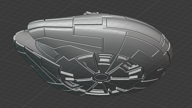 Personell-Dropship-bottom.PNG Download free STL file Full Thrust Starship Miniature  • Design to 3D print, Go0gleplex