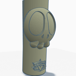cartoonSkull.PNG Download STL file Clipper lighter cover - CartoonSkull • 3D print object, SVdesigns-3D