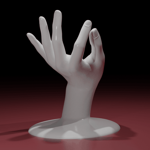 Hand03.png Download STL file Jewelry Holder : My precious • 3D print template, The-Inner-Way