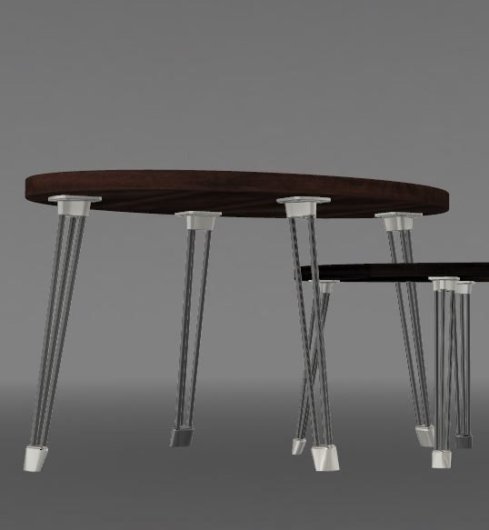 V2 45degres grde table.JPG Download STL file PING & PONG tables • Object to 3D print, MyVx35