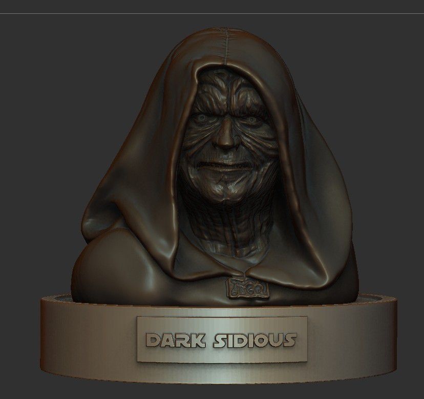 03.jpg Download STL file DARK SIDIOUS • Template to 3D print, thierry3D