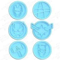 1-main.jpg Download STL file Superheroes logo cookie cutter set of 12 • Object to 3D print, roxengames