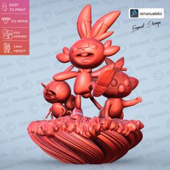 cults1 A.jpg Download STL file Pokemon GALAR statue • Template to 3D print, emanuelsko