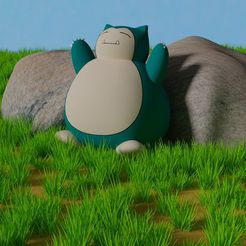 YawningSnorlaxpose1.png Download free STL file Are you sleepy, Snorlax? • 3D printing model, HerrWolf
