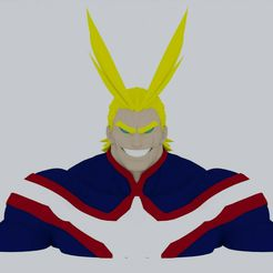 all-might.jpg Download STL file Bust All Might • 3D printing template, STRIKER