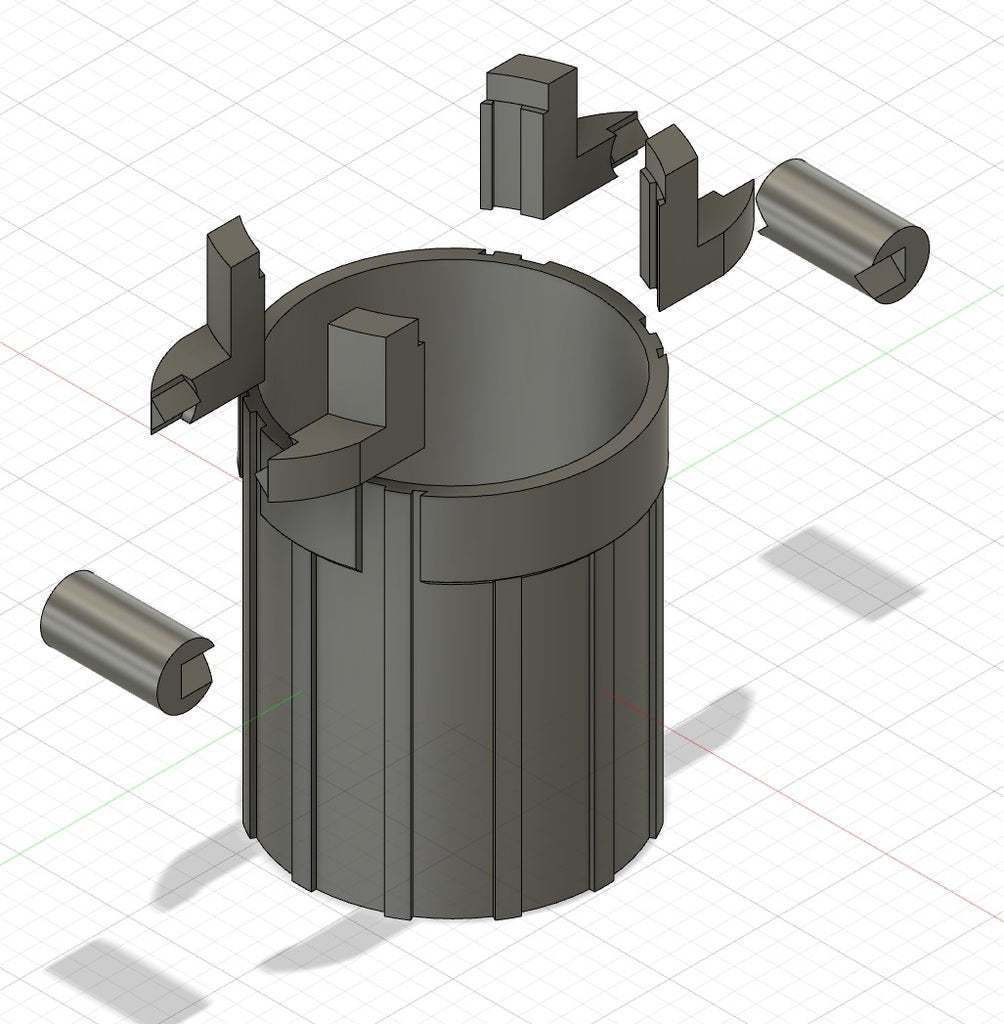 complex_NoSupport.jpg Download free STL file Small Trash Can (Lego look like) • 3D printer template, GedeonLab