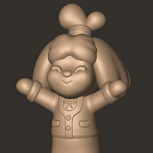 c.jpg Download OBJ file Isabelle // Animal Crossing New Horizons • 3D printing design, MatteoMoscatelli