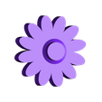 flower_gear_ring3.3cm.stl Download free STL file Rotating flower Accessories (ring, necklace) • 3D print template, 3DP_PARK