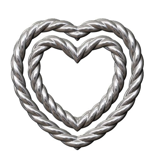 BRAIDED-HEART-09.JPG Download 3MF file Wire Heart pendant and charm plus ornaments 3D print model • 3D printer template, RachidSW